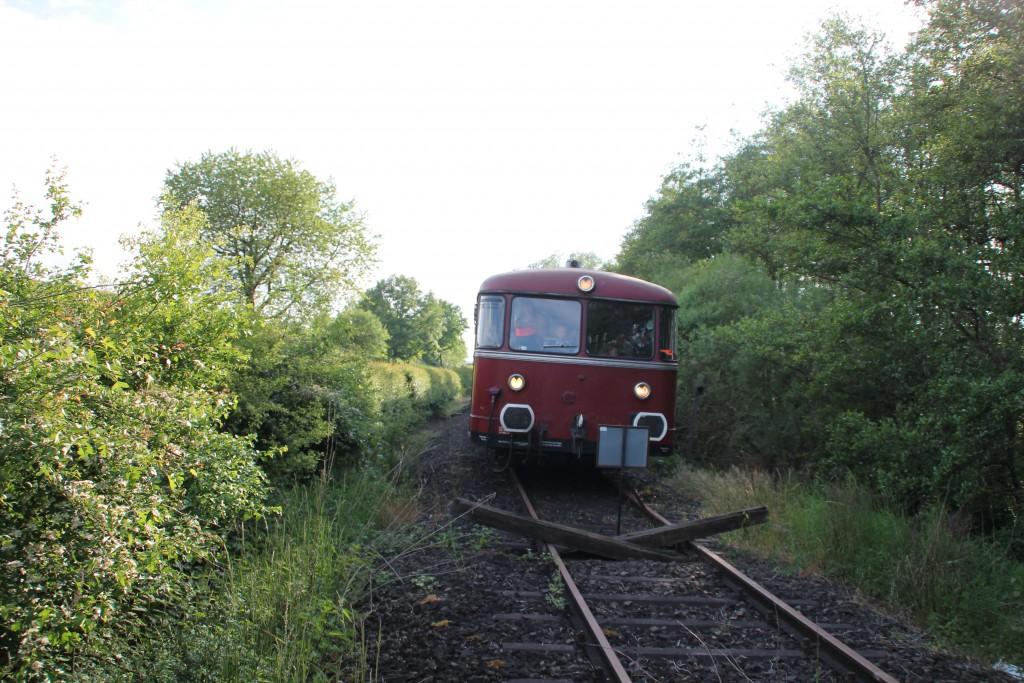 Am 25.05.2015 erreichte 798 829 das Streckenende der Lumdatalbahn in Mainzlar.