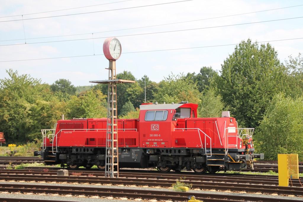 261 080 steht am 22.08.2015 abgestellt im Güterbahnhof Wetzlar.