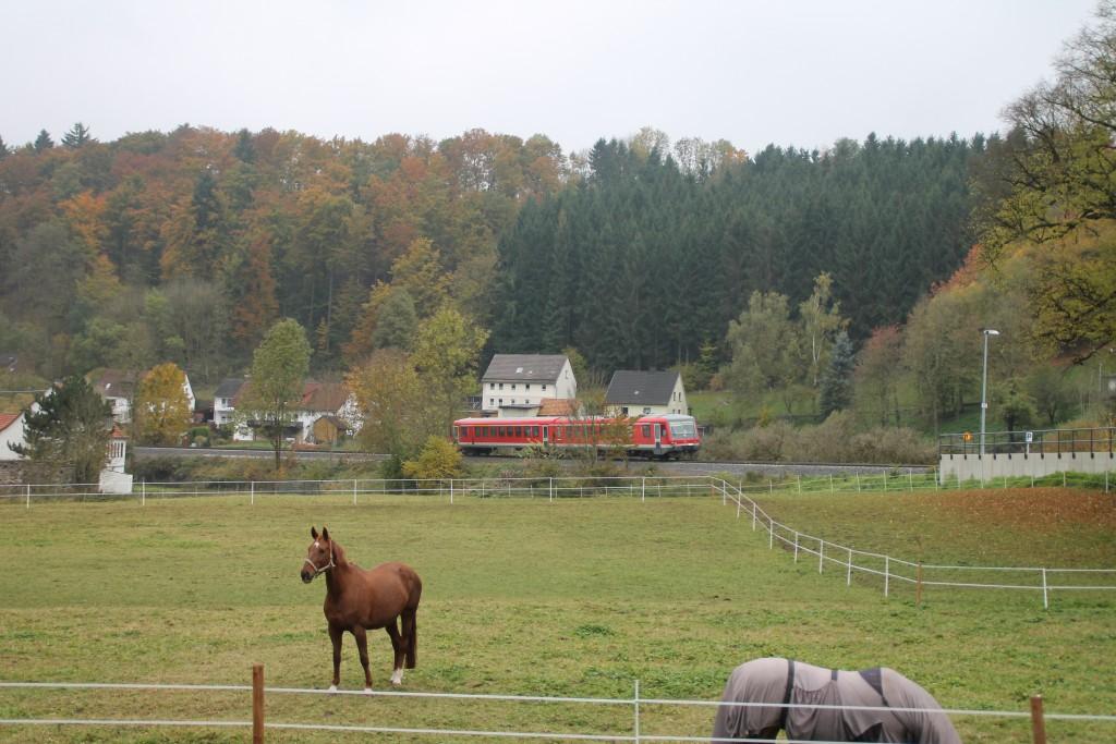628 226 verlässt Thalitter in Richtung Frankenberg, aufgenommen am 24.10.2015.