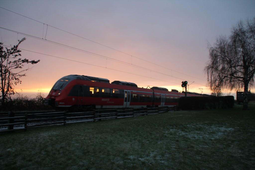 Ein TALENT 2 im Morgenlicht in der nähe von Butzbach, aufgenommen am 06.12.2015.