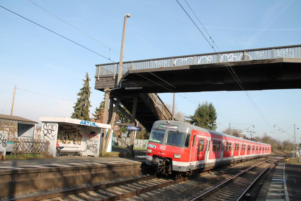 420 298 in Berkersheim auf der Main Weser-Bahn, aufgenommen am 06.02.2016.