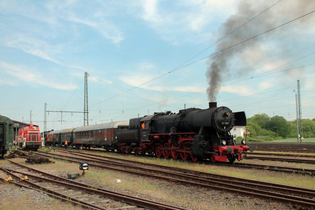 52 4867 im Eisenbahnmuseum Darmstadt-Kranichstein, aufgenommen am 14.05.2015.