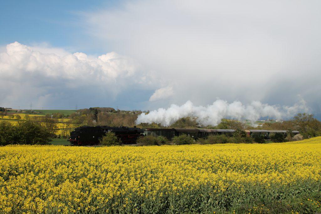 03 1010 auf der Horlofftalbahn bei Dorheim, aufgenommen am 24.04.2016.