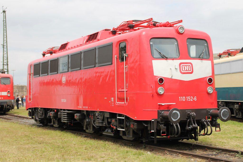 110 152 steht im DB-Museum in Koblenz-Lützel, aufgenommen am 19.06.2016.