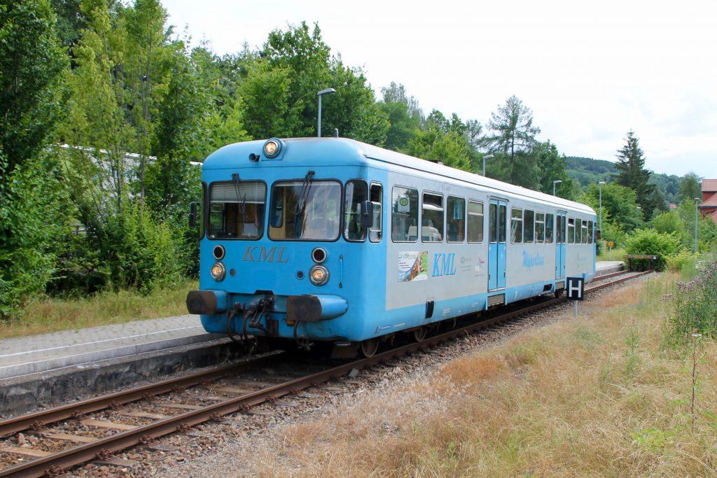 Die Wipperliese hält an der Endstation Wippra, aufgenommen am 03.07.2016.