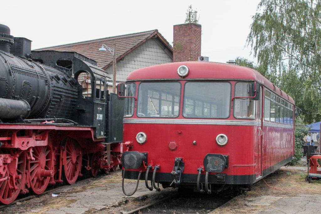 796 744 steht im Eisenbahnmuseum in Darmstadt-Kranichstein, aufgenommen am 17.09.2016.