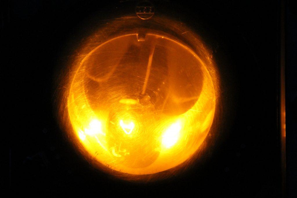 Eine Lampe eines Form-Vorsignals, aufgenommen am 23.05.2015.