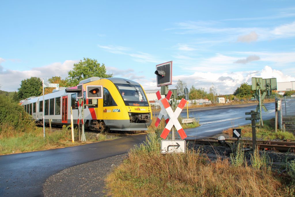 648 011 kurz vor dem Streckenende der Lumdatalbahn in Mainzlar, aufgenommen am 04.09.2016.